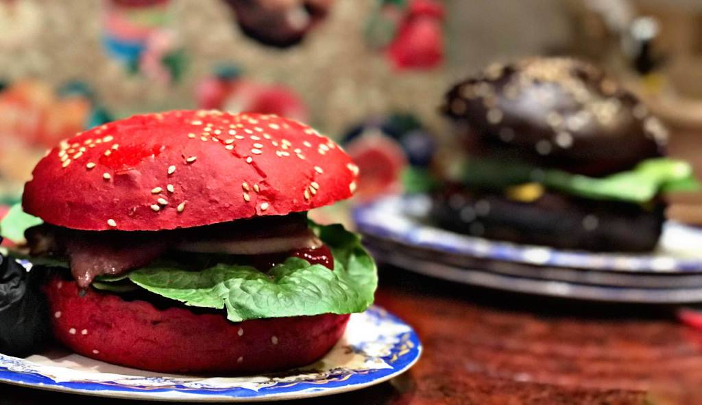 These are the most delicious burgers ever with green chili
