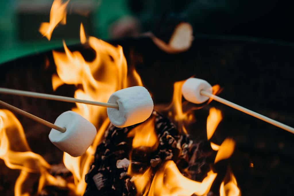 Grilling marshmallow