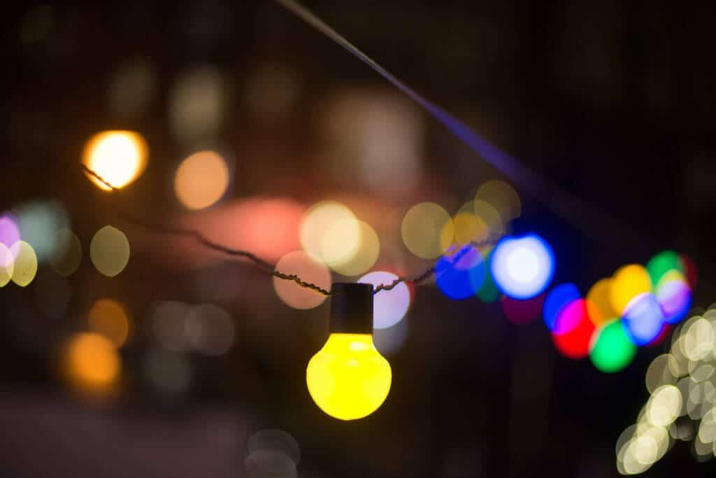 Illuminated lights decoration at night